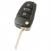 Audi 3-knops klapsleutel behuizing - sleutelbaard recht (model 5)