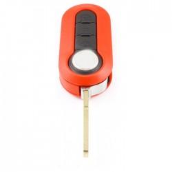 Fiat 3-knops klapsleutel rood - sleutelbaard recht