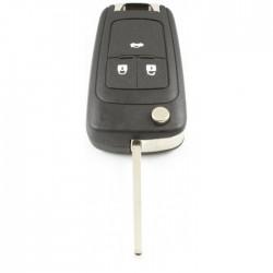 Opel 3-knops klapsleutel - sleutelbaard recht (voor o.a. Opel Insignia)