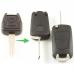 Opel 2-knops klapsleutel - sleutelbaard punt met inkeping links (ombouwset)