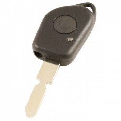 Peugeot 1-knops sleutelbehuizing - sleutelbaard met inkeping midden met uitsparing infrarood lampje
