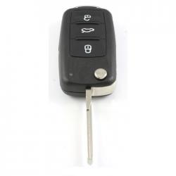 Seat 3-knops klapsleutel - sleutelbaard recht met inkeping zijkant (nieuw model)