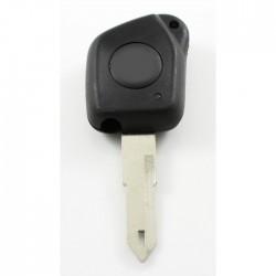 Peugeot 1-knops sleutelbehuizing - sleutelbaard punt met opening (voor oudere modellen)