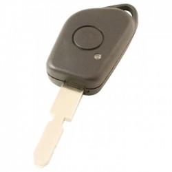 Peugeot 1-knops sleutelbehuizing - sleutelbaard met inkeping midden (model 1)