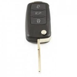 Volkswagen 3-knops klapsleutel - sleutelbaard recht met inkeping zijkant voor oa Touareg (model 2)