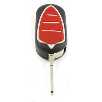 Alfa 3-knops klapsleutel - sleutelbaard recht met inkeping zijkant
