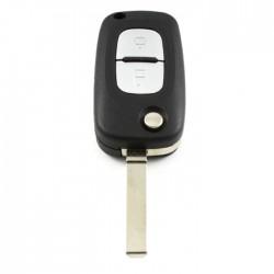 Mercedes 2-knops klapsleutel - sleutelbaard recht
