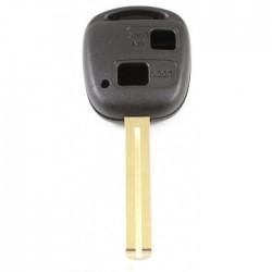 Toyota 2-knops sleutelbehuizing - sleutelbaard recht (+/- 46mm)
