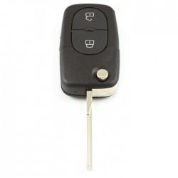 Volkswagen 2-knops klapsleutel - sleutelbaard recht met inkeping zijkant (oudere modellen)