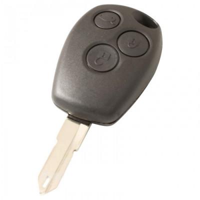 Nissan 3-knops sleutelbehuizing - sleutelbaard punt met opening