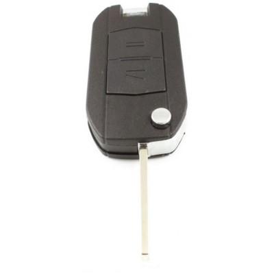 Opel 2-knops klapsleutel - sleutelbaard recht - batterij in behuizing (ombouwset)
