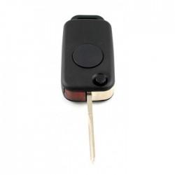 Mercedes 1-knops klapsleutel - sleutelbaard recht met inkeping zijkant