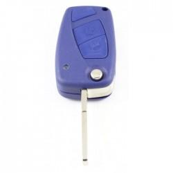 Fiat 2-knops klapsleutel blauw - sleutelbaard recht