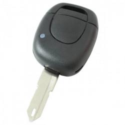 Renault 1-knops sleutelbehuizing - sleutelbaard punt met opening in punt - batterij op chip