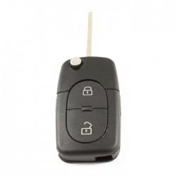 Audi 2-knops klapsleutel - sleutelbaard recht (model 2)