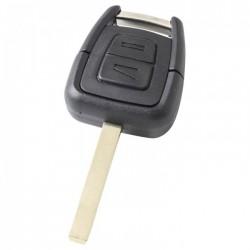Opel 2-knops sleutelbehuizing - sleutelbaard recht (HU100)