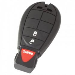 Chrysler 2-knops smart key behuizing met paniek knop