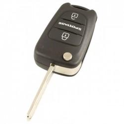 Kia Sportage 3-knops klapsleutel - sleutelbaard recht