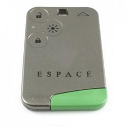 Renault Espace smartcard 3-knops sleutelbehuizing