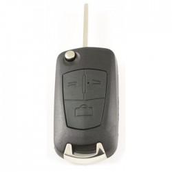 Opel 3-knops klapsleutel - sleutelbaard recht - batterij op chip