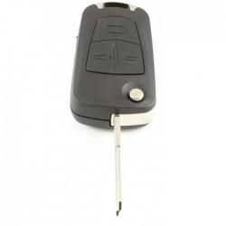 Opel 3-knops klapsleutel - sleutelbaard punt inkeping links