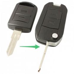 Opel 2-knops klapsleutel - sleutelbaard inkeping links (ombouwset)
