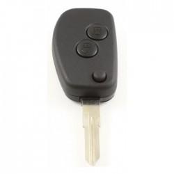 Renault 2-knops klapsleutel - sleutelbaard punt