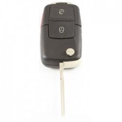 Seat 2-knops klapsleutel met paniek knop - sleutelbaard recht met inkeping zijkant