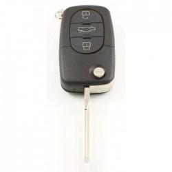 Audi 3-knops klapsleutel met paniek knop - uitvoering 1 batterij