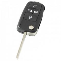 Volkswagen 4-knops klapsleutel - sleutelbaard recht met inkeping zijkant