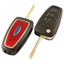 Ford 3-knops klapsleutel - sleutelbaard rond (rood)