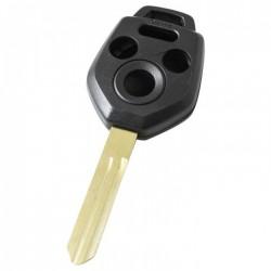 Subaru 3-knops sleutelbehuizing met paniek knop - sleutelbaard punt