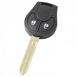 Nissan 2-knops sleutelbehuizing - sleutelbaard punt met inkeping links