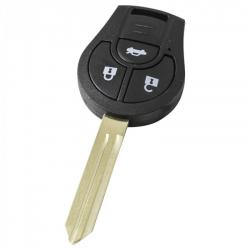 Nissan 3-knops sleutelbehuizing - sleutelbaard punt met inkeping links