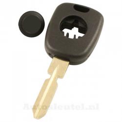 Mercedes 1-knops sleutelbehuizing - sleutelbaard recht met inkeping midden