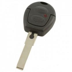 Skoda 2-knops sleutelbehuizing - sleutelbaard recht