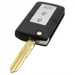 Kia 3-knops klapsleutel met paniek knop - sleutelbaard punt (ombouwset)