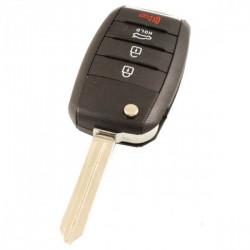 Kia 4-knops klapsleutel met paniek knop - sleutelbaard recht met inkeping