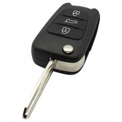Kia 3-knops klapsleutel - sleutelbaard punt met inkeping rechts