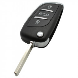 Citroën 3-knops klapsleutel - sleutelbaard recht geschikt voor Citroën DS