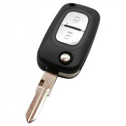 Renault 2-knops klapsleutel - sleutelbaard punt met inkeping rechts