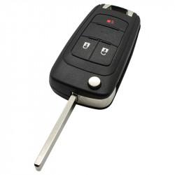 Chevrolet 2-knops klapsleutel met paniek knop - sleutelbaard recht