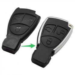 Mercedes 3-knops smart key behuizing met elektronica 433MHZ (model 3)