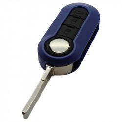 Fiat 3-knops klapsleutel donkerblauw - sleutelbaard recht