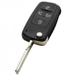 Volkswagen 4-knops klapsleutel - sleutelbaard recht met inkeping zijkant (model 2)