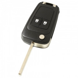 Chevrolet 2-knops klapsleutel - sleutelbaard recht (HU100)