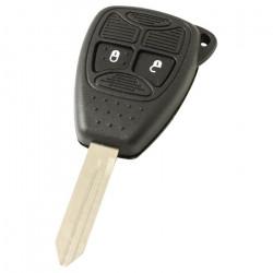 Chrysler 2-knops sleutelbehuizing - sleutelbaard punt