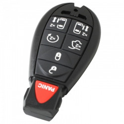 Chrysler 6-knops smart key behuizing met paniek knop
