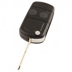 Land Rover 2-knops klapsleutel - sleutelbaard punt met inkeping zijkant