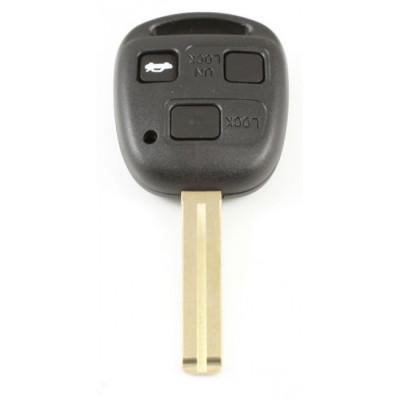 Toyota 3-knops sleutelbehuizing - sleutelbaard recht (+/- 37mm)